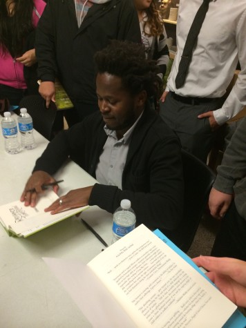 Author, activist, former boy soldier Ishmael Beah visits East Aurora High School