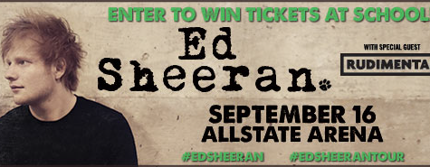 Enter to win tickets to see Ed Sheeran on Sept. 16