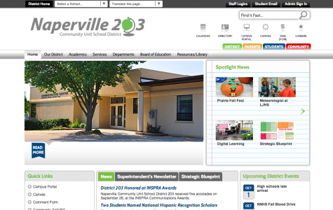 District 203 adopts new website design