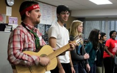 Tompkins' class carol for students, Communications Arts staff