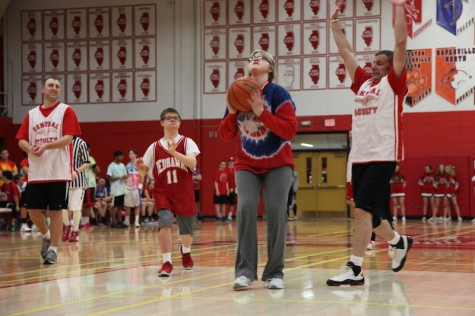Student vs. Staff Basketball Game 2015