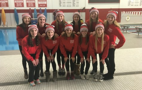 Girls' Swimming and Diving place fifth in Sectionals, five members qualify for State