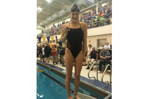 Sophomore swimmer Audrey Coffey meets long-term goal, looks toward the future