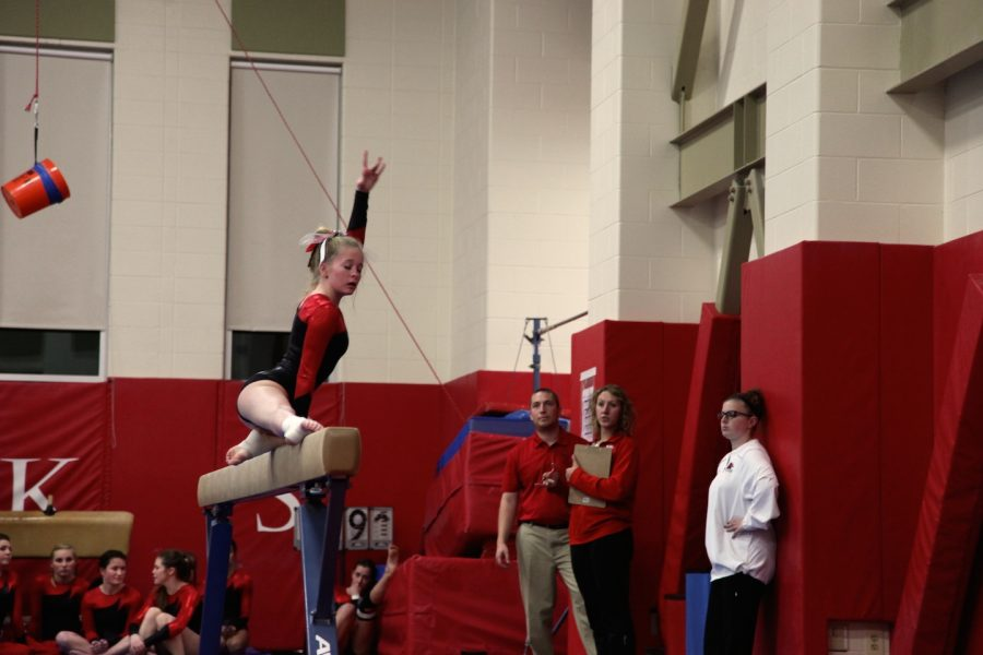 Gymnasts step up, performing well throughout season