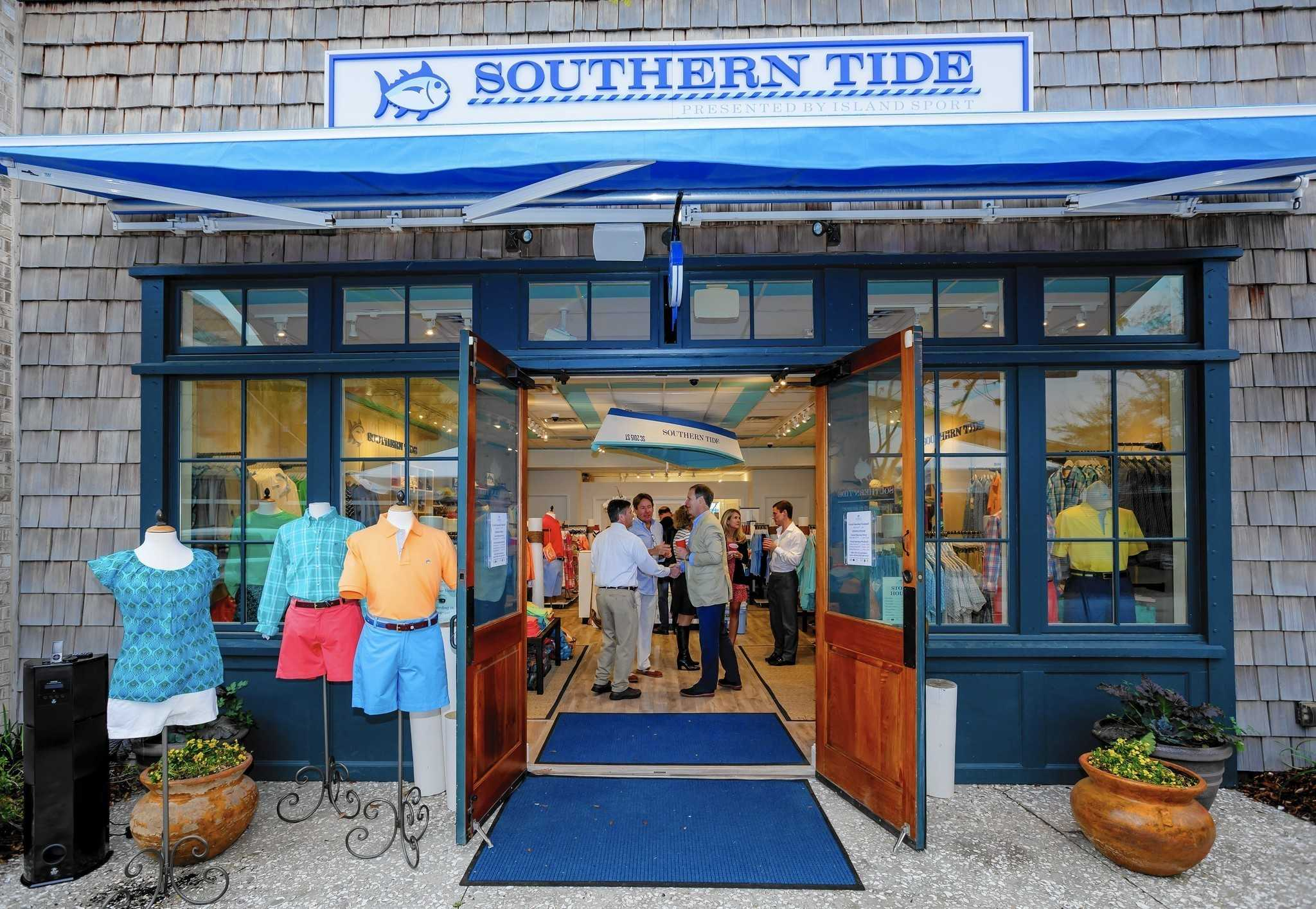 SHOPPING SOUTHERN: Shoppers browse Southern Tide's clothes, located near Hotel Indigo.