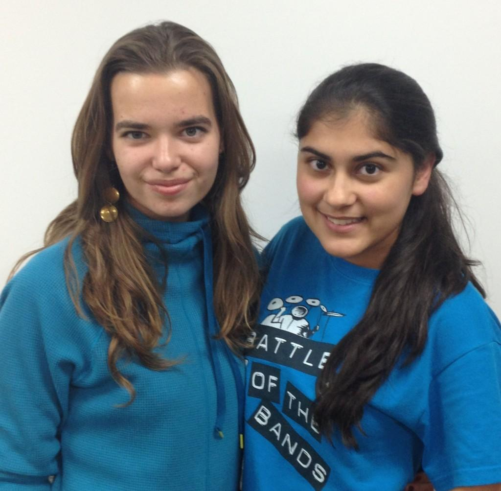 Central Times Managing Editor Anya Marchenko (left) and Durva Trivedi (right), Editorial and Copy Editor