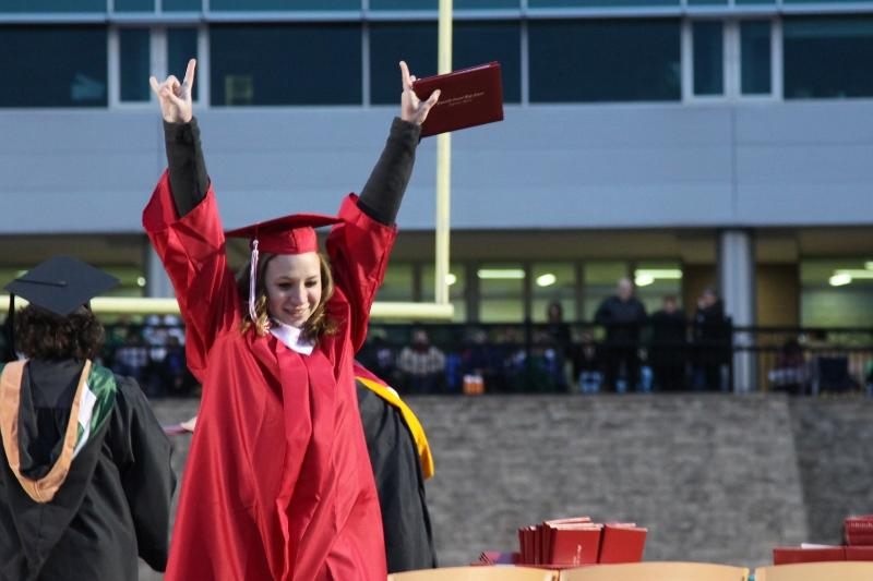 Naperville Central Commencement takes place in Memorial Stadium