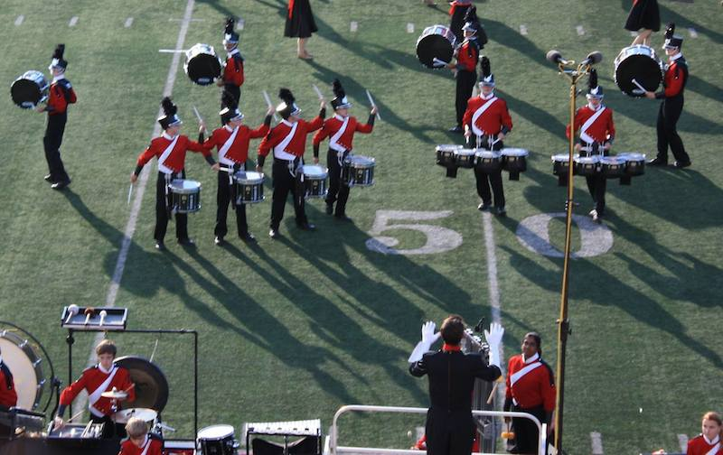 Naperville+Centrals+drum+feature+from+their+2014+production%2C+The+Gift.+This+show+was+the+last+one+with+the+old+uniforms.