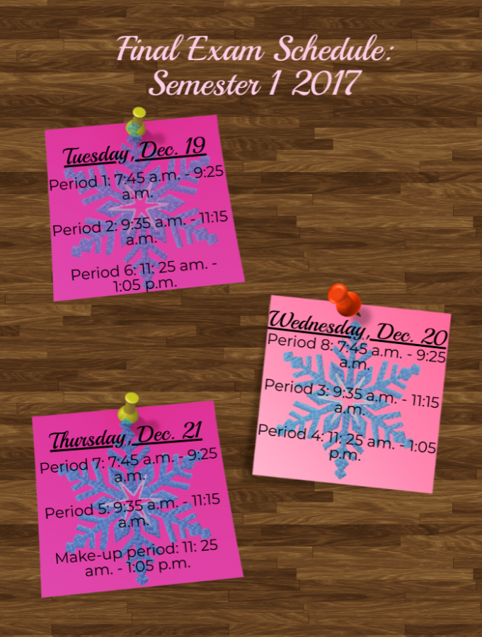 Naperville Central semester one final exam schedule