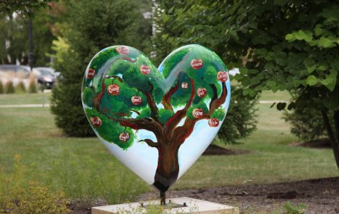 Photo gallery: Hodge's heart displayed in Honor Garden