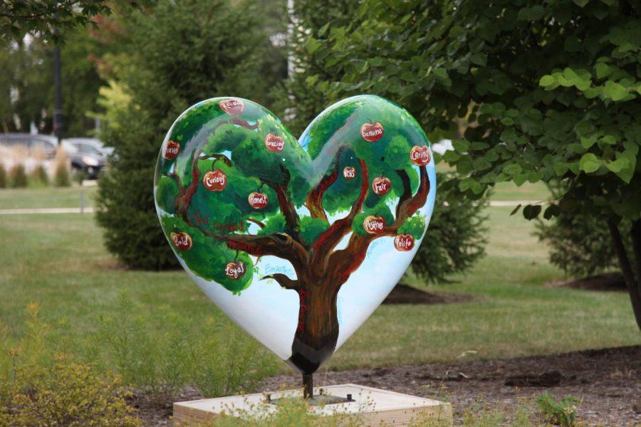 Photo gallery: Hodge's heart displayed in Honor Garden