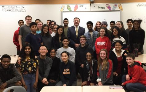 Representative Grant Wehrli addresses political debate club JSA at Central