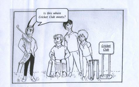 Cricket Club Cartoon