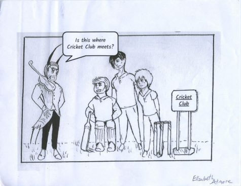 Cricket Club Cartoon