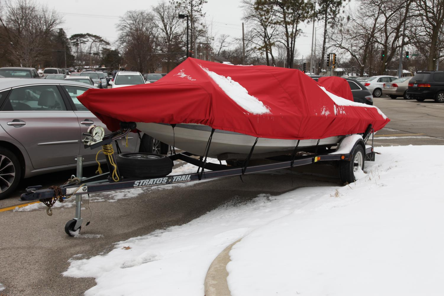 """""""The school requested a place to store the boat,"""" said Steve Mathis, Building and Grounds director. """"We had an existing concrete pad next to the metal building at the end of the football field, and it made sense and was cost effective to use the existing building."""""""