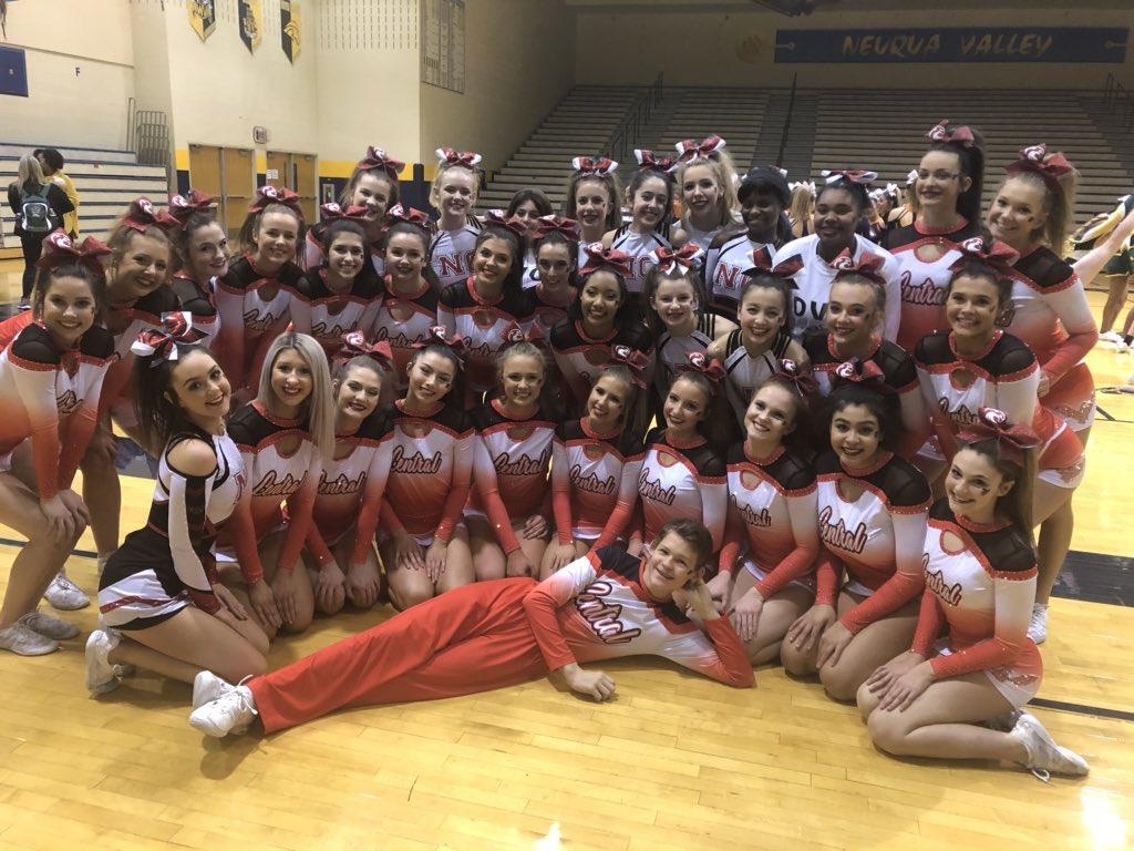 Cheer team at Neuqua Valley High School