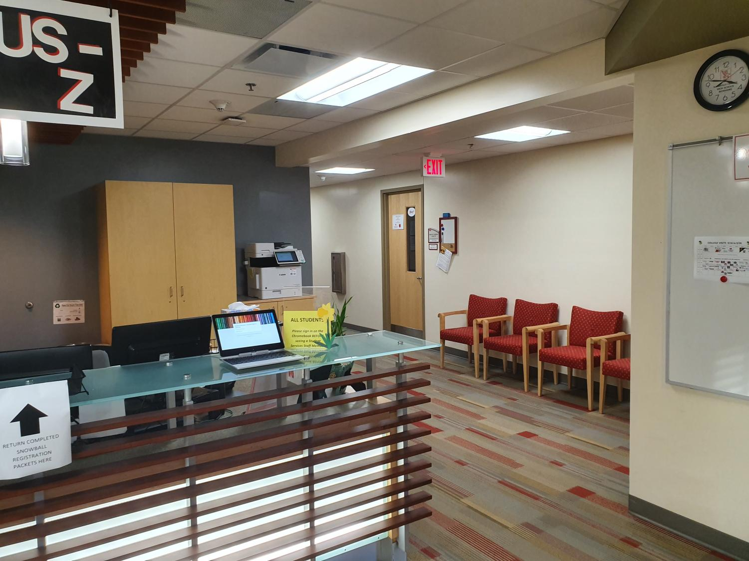 Students can find their counselors in Student Services, located in the flat wing.