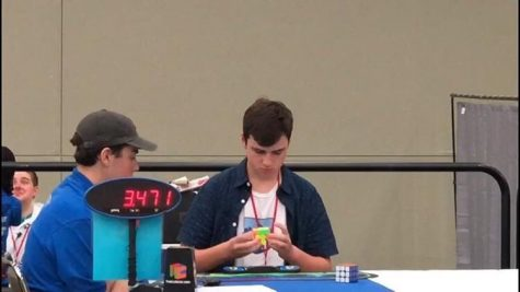 Joey Rubas at a competition, CubingUSA Nationals 2019