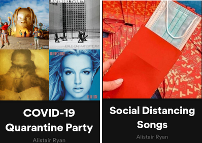 The original cover and title of the playlist can be seen to the right while the new cover is on the left.