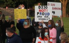 Parents of District 230 students in Orland Park joined parents and students from Naperville 203 and surrounding communities gathered at Rotary Hill on Sept. 21 to demand the immediate return of students to in-person learning.