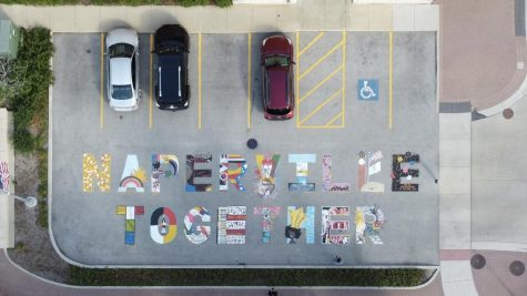 Downtown Naperville adds 'NAPERVILLE TOGETHER' inclusive art on Water Street