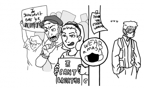 """The inherent privilege of using """"I can't breathe"""" in protest of masks"""
