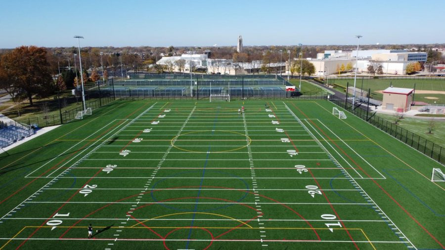 Naperville+Central+plans+to+use+the+new+turf+field+at+Knoch+Park+for+upcoming+athletic+seasons.