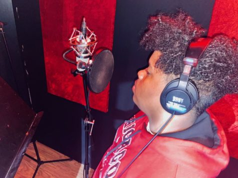 "Deahn Williams, also known as ""Okdeazy,"" records ""Moment"" for his album ""My World."""