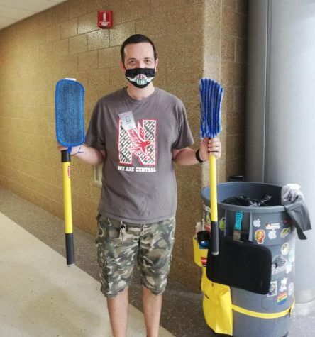 Naperville Central custodian works hard to keep students and staff safe in pandemic